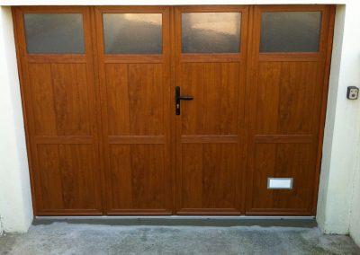 Chantier La-Chapelle-Saint-Mesmin : porte de garage bois