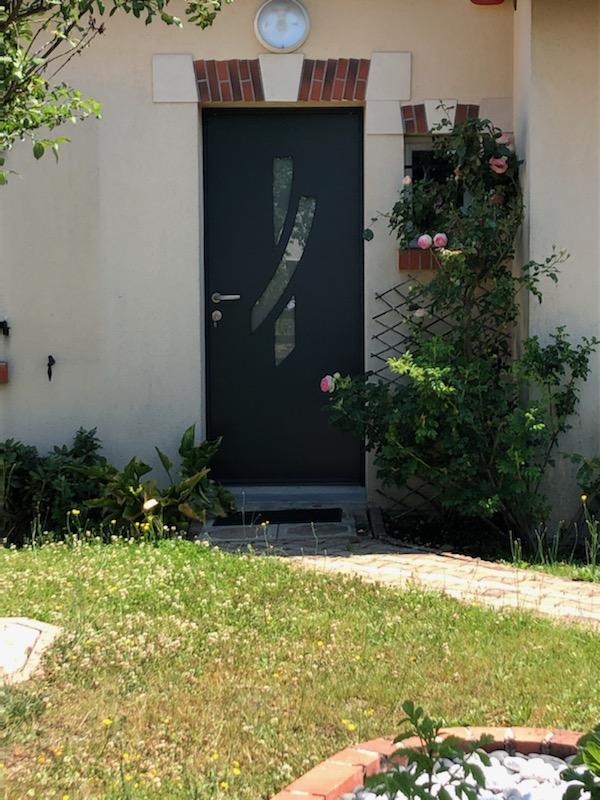 porte d'entrée bicolore | Pouet Menuiserie