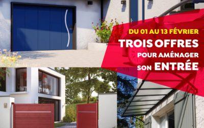 Offre spéciale portes de garage, portails, marquises